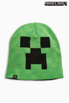 Green/Black Minecraft Beanie (Older Boys)