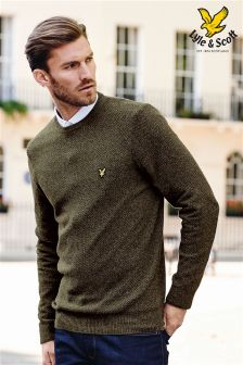 Grey Lyle and Scott Crew Neck Knit
