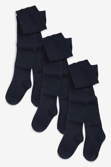 Navy School Tights Three Pack (3-16yrs)