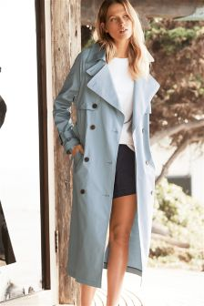 Blue Oversized Trench