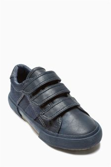 Triple Strap Pumps (Older Boys)