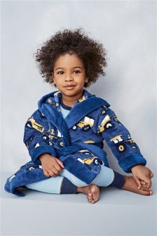 Navy Tractor Robe (9mths-8yrs)