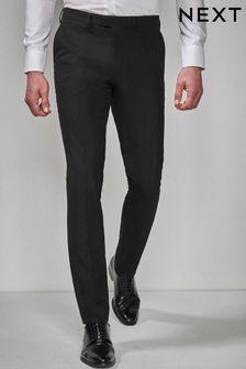 Black Tuxedo Suit: Trousers