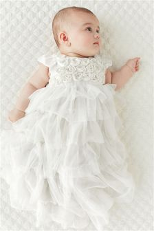 Cream Christening Dress (0-18mths)