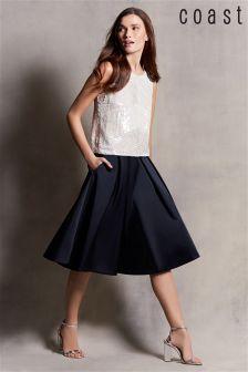 Navy Coast Meslita Full Skirt