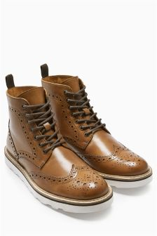Brogue Wedge Boot