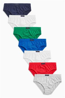Multi Colour Briefs Seven Pack (1.5-12yrs)