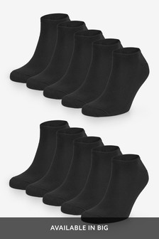 Black Trainer Socks 10 Pack