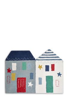 Blue House Shaped Rug