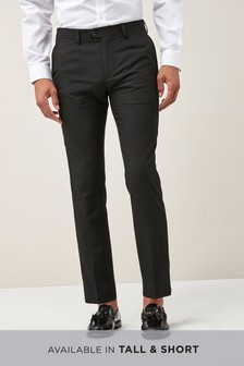 Black Plain Front Skinny Fit Trousers