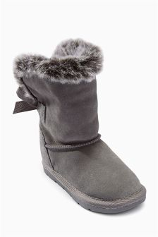 Grey Pull-On Boots (Younger Girls)