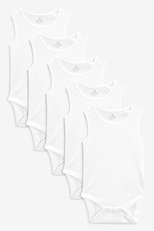 Five Pack White Vests (0mths-3yrs)