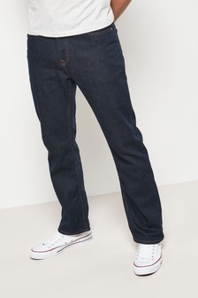 Dark Ink Jeans With Stretch