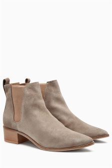 Leather Point Chelsea Ankle Boots