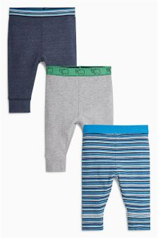 Green/Blue Leggings Three Pack (0mths-2yrs)