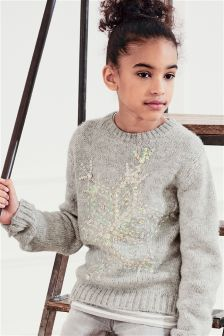 Grey Snowflake Sweater (3-16yrs)