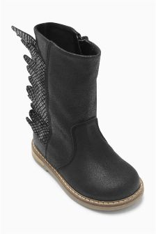 Black Wings Boots (Younger Girls)