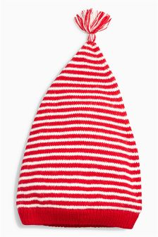 Red/White Stripe Hat (0mths-2yrs)