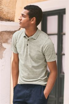 Grey Short Sleeve Polo Shirt