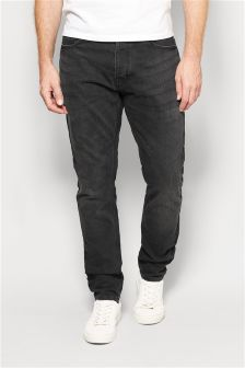Washed Black Jeans With Stretch