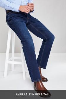 Dark Blue Belted Jeans