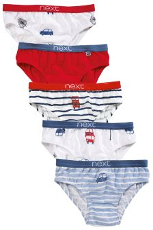 Red/Blue Transport Briefs Five Pack (1.5-8yrs)