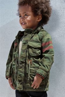 Camouflage Embroidered Field Jacket (3mths-6yrs)