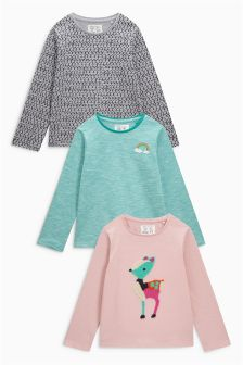 Multi Bright Character T-Shirt Three Pack (3mths-6yrs)