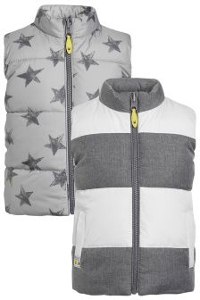 Grey Reversible Gilet (3mths-6yrs)