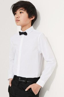 White Long Sleeve Shirt And Bow Tie (3-16yrs)