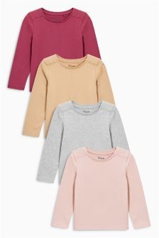 Multi Berry Long Sleeve T-Shirts Four Pack (3mths-6yrs)