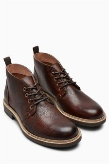 Brown Leather Chukka Boot