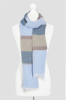 Blue/Neutral Stripe Scarf