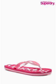 Pink Raspberry Superdry Flip Flop