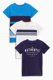 Blue T-Shirts Three Pack (3-16yrs)