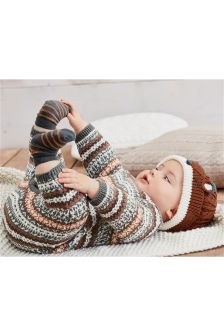 Multi Fairisle Pattern Romper (0mths-2yrs)