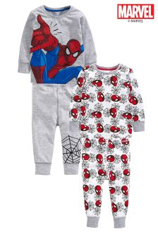 Grey/Red Spider-Man® Pyjamas Two Pack (9mths-8yrs)