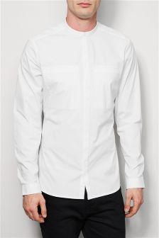 Long Sleeve Stretch Grandad Shirt