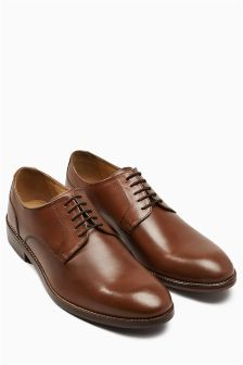 Tan Leather Sole Derby