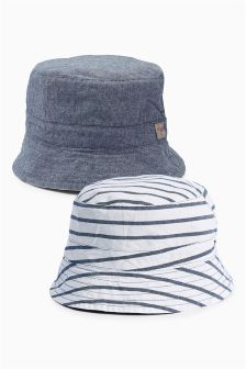 Chambray Reversible Fisherman's Hat (0mths-2yrs)