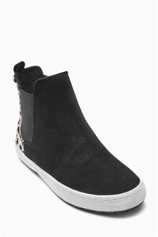 Black Casual Chelsea Boots (Older Girls)