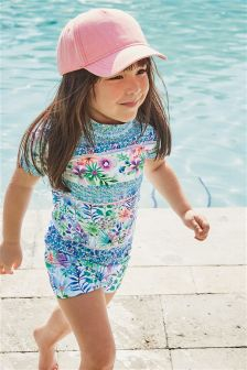 Floral Sunsafe Two Piece Set (3mths-6yrs)