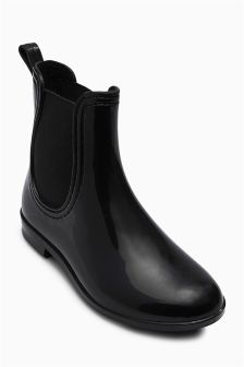 Black Chelsea Wellington Boots (Older Girls)