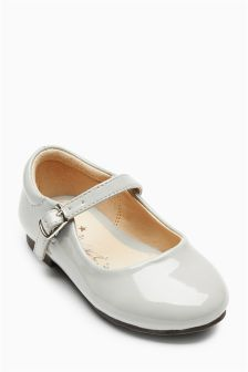 Grey Mary Jane Shoes (Younger Girls)