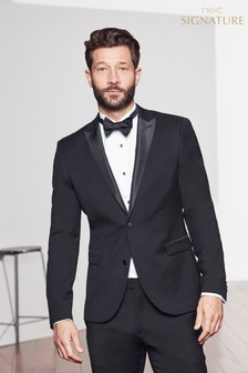 Black Signature Tuxedo Slim Fit Suit: Jacket