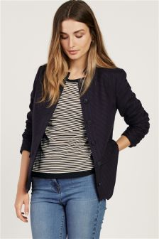 Navy Flannel Stripe Military Jacket