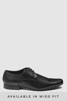 Black Plain Lace-Up
