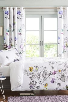 Printed Floral Cotton Waffle Bed Set