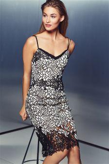 Monochrome Lace Dress