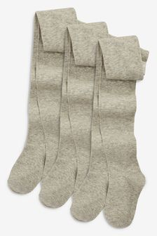 Grey Marl School Tights Three Pack (3-16yrs)